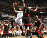 2014 NBA Playoffs Game 4: Apr 28, Miami Heat vs Charlotte Bobcats - Josh McRoberts Photographic Print by Brock Williams-Smith
