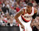 2014 NBA Playoffs Game 6: May 2, Houston Rockets vs Portland Trail Blazers - Wesley Matthews Photographic Print by Cameron Browne
