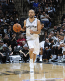 2014 NBA Playoffs Game 2: Apr 23, Dallas Mavericks vs San Antonio Spurs - Tony Parker Photographic Print by D. Clarke Evans