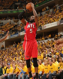 2014 NBA Playoffs Game 7: May 3, Atlanta Hawks vs Indiana Pacers - DeMarre Carroll Photographic Print by Ron Hoskins