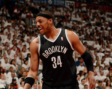2014 NBA Playoffs Game 7: May 4, Brooklyn Nets vs Toronto Raptors - Paul Pierce Fotografisk tryk af Ron Turenne