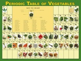 Periodic Table of Vegetables Poster Prints