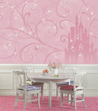 Disney Princess - Scroll Castle Prepasted Mural Wallpaper Mural