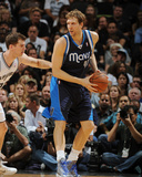 2014 NBA Playoffs Game 2: Apr 23, Dallas Mavericks vs San Antonio Spurs - Dirk Nowitzki Photographic Print by Garrett Ellwood
