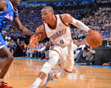 2014 NBA Playoffs Game 2: May 7, Los Angeles Clippers vs Oklahoma City Thunder - Russell Westbrook Photographic Print by Jesse D. Garrabrant