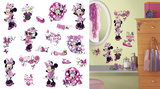 Mickey & Friends - Minnie Fashionista Peel and Stick Wall Decals Vinilo decorativo