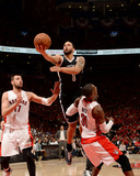 2014 NBA Playoffs Game 7: May 4, Brooklyn Nets vs Toronto Raptors - Deron Williams Photographic Print by Ron Turenne