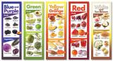 Fruits & Veggies by Color Poster Set Plakaty