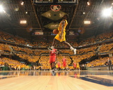 2014 NBA Playoffs Game 7: May 3, Atlanta Hawks vs Indiana Pacers - Lance Stephenson Photographic Print by Ron Hoskins