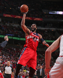 2014 NBA Playoffs Game 5: Apr 29, Washington Wizards vs Chicago Bulls - Nene Photographic Print by Gary Dineen