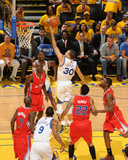 2014 NBA Playoffs Game 6: May 1, Los Angeles Clippers vs Golden State Warriors - Stephen Curry Photographic Print by Noah Graham