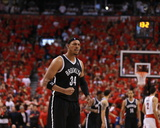2014 NBA Playoffs Game 7: May 4, Brooklyn Nets vs Toronto Raptors - Paul Pierce Fotografisk tryk af Dave Sandford