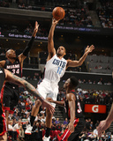 2014 NBA Playoffs Game 4: Apr 28, Miami Heat vs Charlotte Bobcats - Gary Neal Photographic Print by Kent Smith