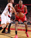 2014 NBA Playoffs Game 6: May 2, Houston Rockets vs Portland Trail Blazers - Dwight Howard Photographic Print by Sam Forencich