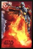 Star Wars - Boba Fett blast Print