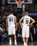2014 NBA Playoffs Game 2: Apr 23, Dallas Mavericks vs San Antonio Spurs - Tim Duncan, Tony Parker Photo af D. Clarke Evans