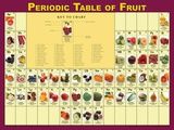 Periodic Table of Fruits Poster Photo