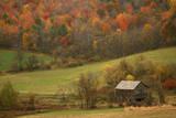 An Old Outbuilding on a Farm Near Cambridge, New York Fotografisk tryk af Aaron Huey