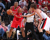 2014 NBA Playoffs Game 6: May 2, Houston Rockets vs Portland Trail Blazers - Dwight Howard Photo by Sam Forencich