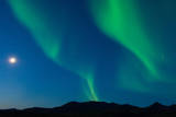 Full Moon and Northern Lights Put on a Magical and Mystical Display in the Night Sky Photographic Print by Tom Murphy