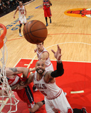 2014 NBA Playoffs Game 5: Apr 29, Washington Wizards vs Chicago Bulls - Carlos Boozer Photographic Print by Gary Dineen