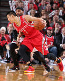2014 NBA Playoffs Game 6: May 2, Houston Rockets vs Portland Trail Blazers - Jeremy Lin Photographic Print by Sam Forencich