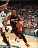 2014 NBA Playoffs Game 4: Apr 28, Miami Heat vs Charlotte Bobcats - Norris Cole Photographic Print by Brock Williams-Smith