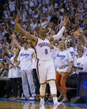 2014 NBA Playoffs Game 2: May 7, Los Angeles Clippers vs Oklahoma City Thunder - Russell Westbrook Photographic Print by Richard Rowe
