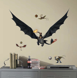 How to Train Your Dragon 2 Hiccup & Toothless Peel and Stick Giant Wall Decals Wall Decal