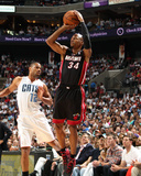 2014 NBA Playoffs Game 4: Apr 28, Miami Heat vs Charlotte Bobcats - Ray Allen Photographic Print by Brock Williams-Smith