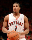 2014 NBA Playoffs Game 7: May 4, Brooklyn Nets vs Toronto Raptors - Kyle Lowry Photographic Print by Ron Turenne