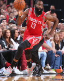 2014 NBA Playoffs Game 6: May 2, Houston Rockets vs Portland Trail Blazers - James Harden Photographic Print by Sam Forencich