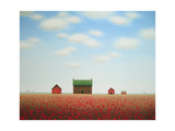 Large Poppy House Farm Print by Sharon France