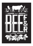 Beef and Beer Poster by  Monorail Studio