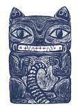 Possum Totem Affiche par  Monorail Studio