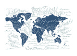 World Map Prints by  Monorail Studio