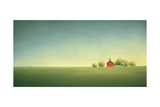 Little Red Prarie Home Giclee Print by Sharon France
