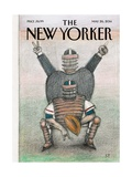 Baseball - The New Yorker Cover, May 26, 2014 Premium Giclee Print by Saul Steinberg