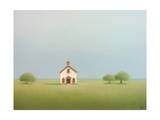 The Old Country Church Premium Giclee Print by Sharon France