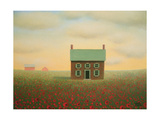 Old Farmhouse at Sunrise Prints by Sharon France