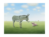 Just Met Giclee Print by Sharon France