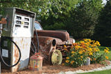 Pump and Car Photographic Print by Lynn Garwood