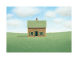 Green Roof Prairie Home Prints by Sharon France