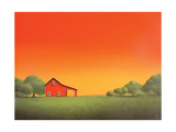 Barn at Sunset Posters by Sharon France