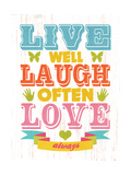 Live Well Giclee Print by Helen Chen