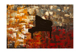 Grand Piano Giclee Print by Carmen Guedez