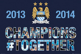 Manchester City - Prem League Winners 13/14 Logo Posters