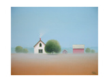 Farmstead in the Mist Posters by Sharon France
