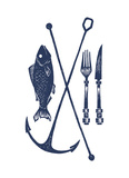 Fish And Fork Posters by  Monorail Studio