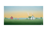 White Farm House Red Barn Posters by Sharon France